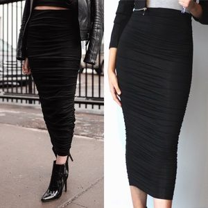 emmydeveaux DOUBLE LAYERED RUCHED SKIRT